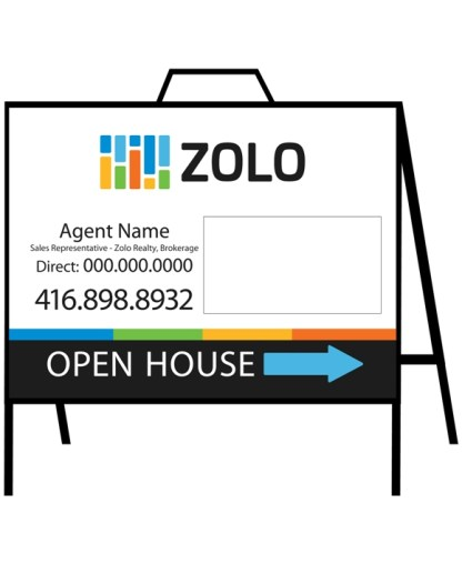 zolo real estate open house sign