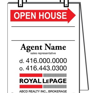 royal lepage real estate sandwich board sign