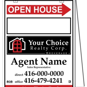 your choice real estate sandwich board sign