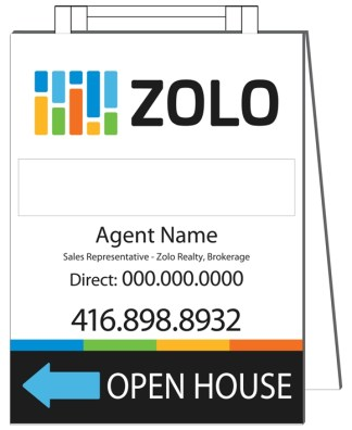 zolo real estate sandwich board sign