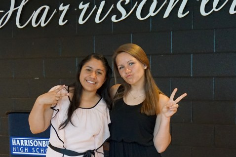 Kenia and Laura Peace Out copy