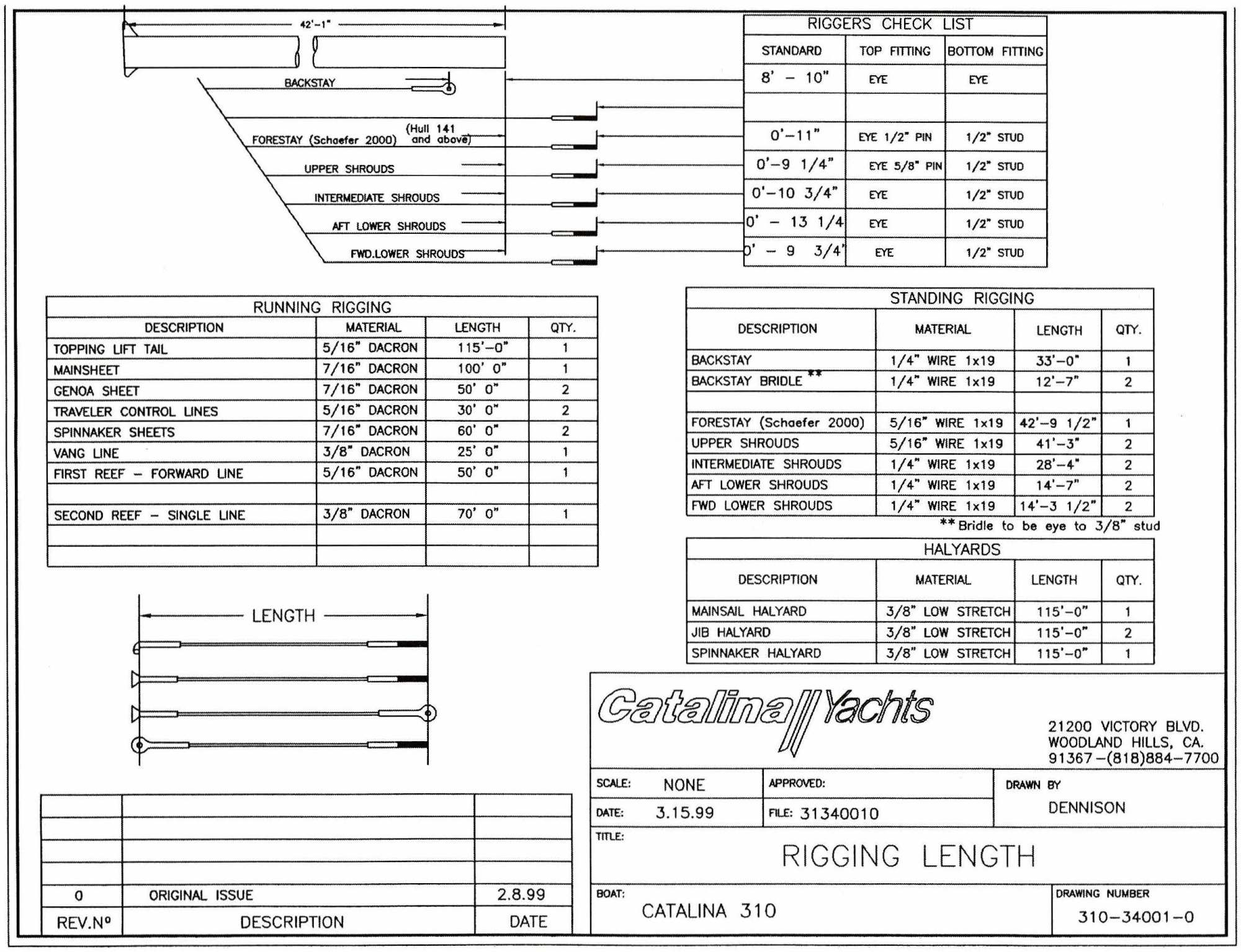hight resolution of for the c310 they have a page in the manual that gives you all of the diameters and lengths of line you need for the running rigging