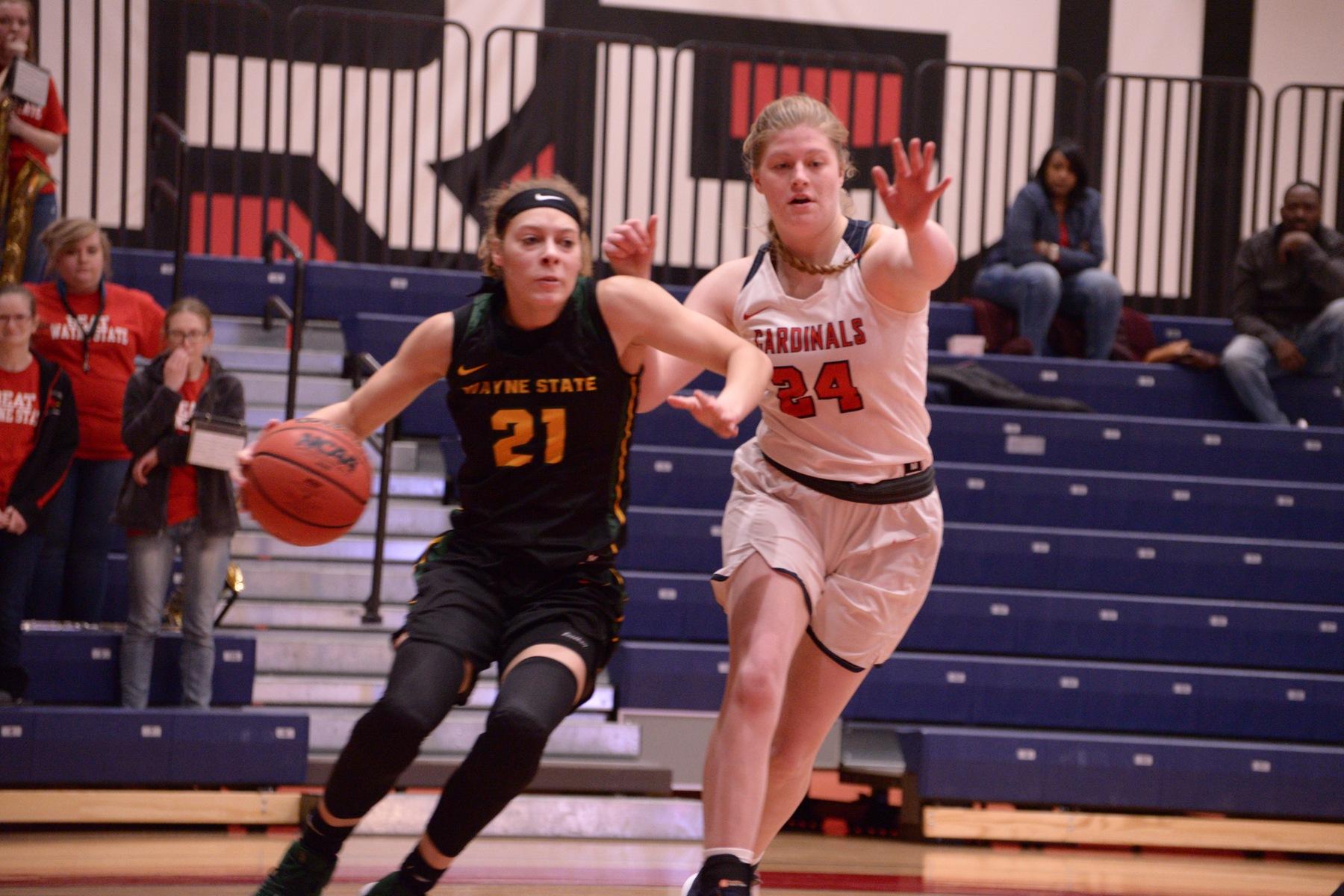 Women's Basketball vs Wayne State - Feb. 21. 2019 - Saginaw Valley State