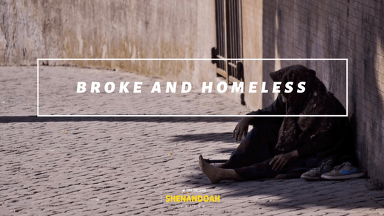 Image result for broke and homeless