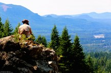 #Wallace Falls_Overlook from the falls