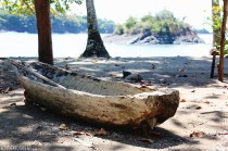 #Isla Parida, Panama_Hollowed canoe