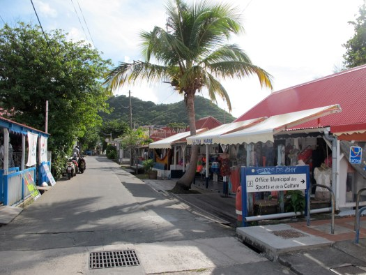 Boutiques along the main road, Bourg Des Saintes
