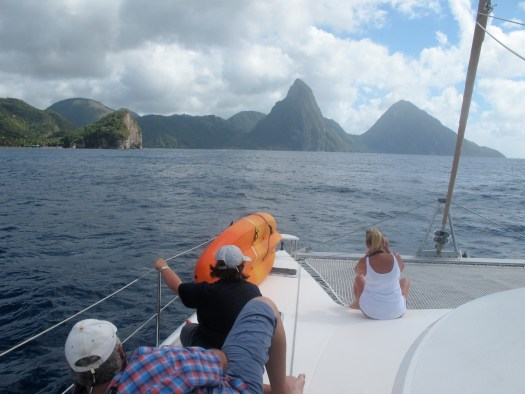Aoproaching Soufriere Bay, St Lucia