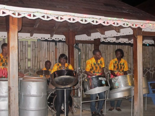 Steel band at Frangipani Bar