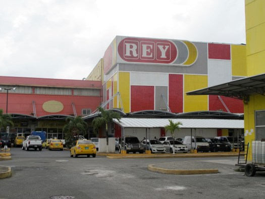 Rey supermarket did very well out of us during our stay in Colon