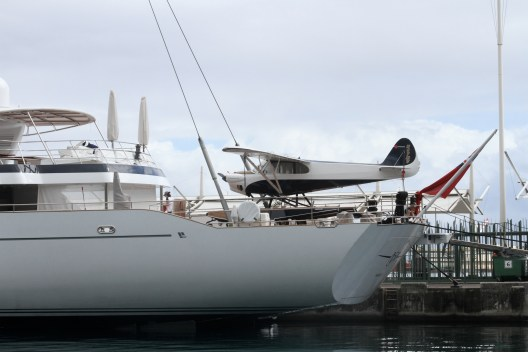 complete with seaplane on the aft deck