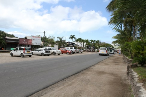 the main street, Vaitape. Not so pretty or upmarket.