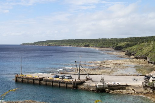 Alofi wharf and dinghy 'dock'
