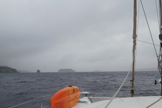 Approaching the entrance to Neiafu harbour.