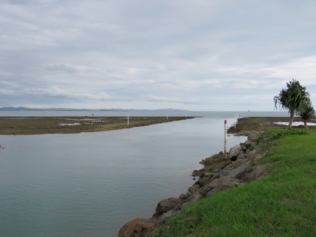 the reef channel into Vuda Point Marina