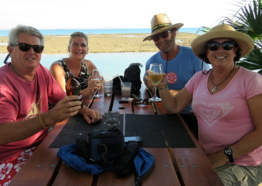 The crews of Rehua and Toucan, Vuda Point Marina (and no, Seathan wasn't drinking a milkshake!)