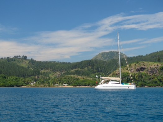 Toucan at anchor, Naqara Bay