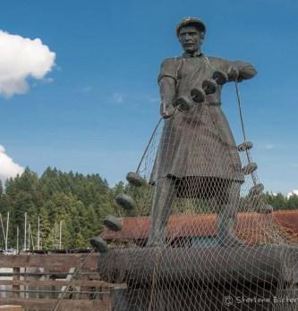Statue dedicated to Fisherman of Gig Harbor