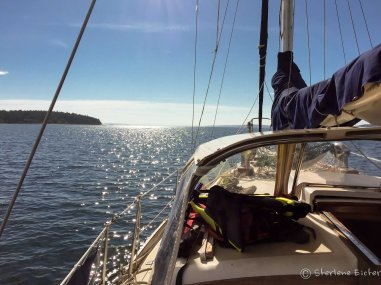 Lots of days of motoring but some good days of sailing too.