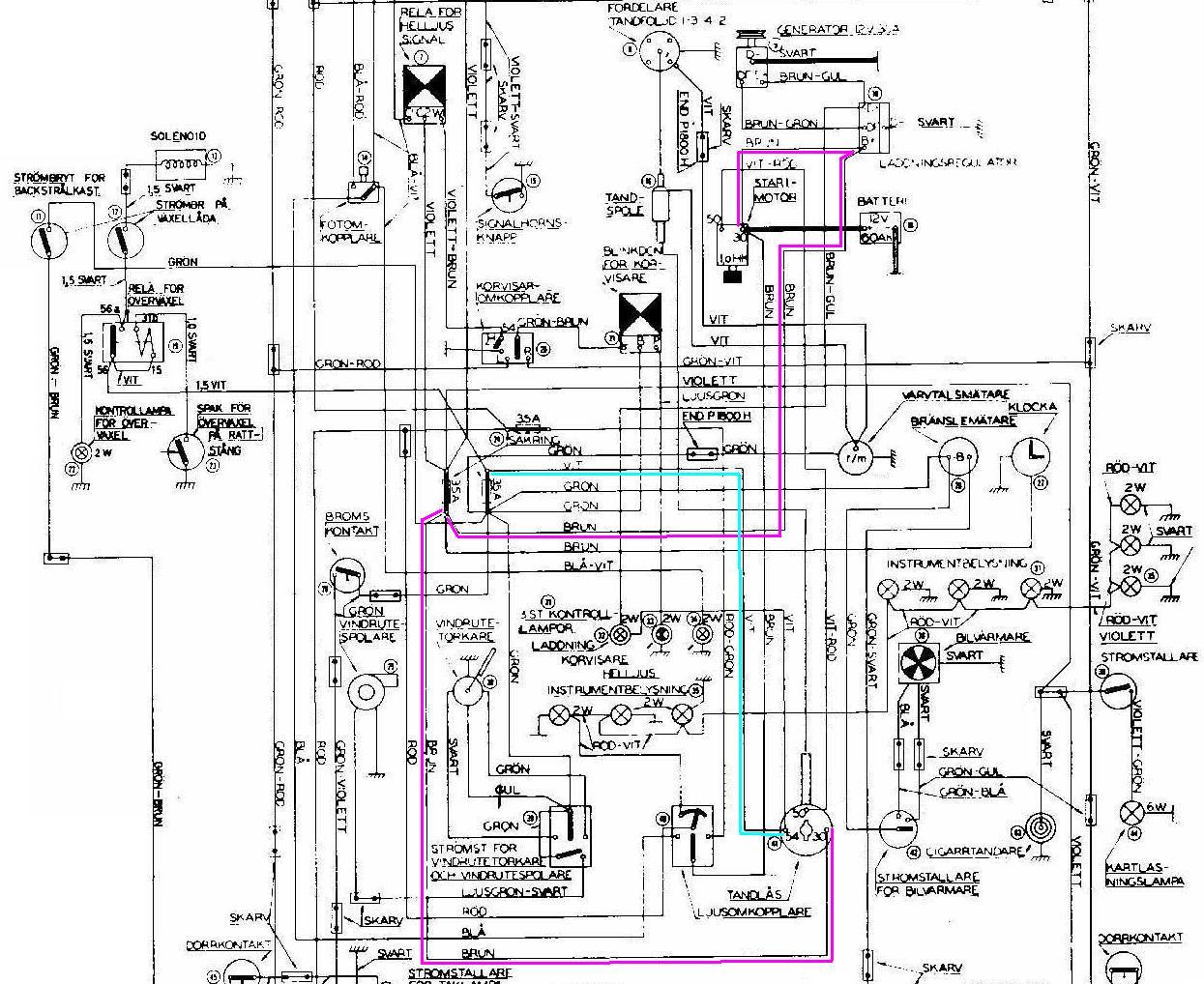 hight resolution of volvo 122 wiring diagram