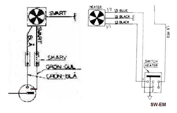 1800 Light Switch, Wiper Switch, Fan Switch Drawing
