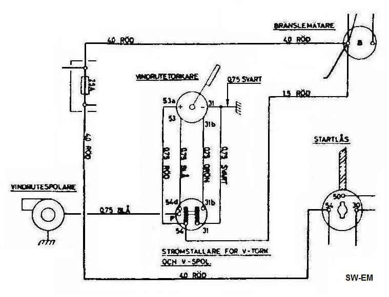 bobcat windshield wiper motor wiring diagram and