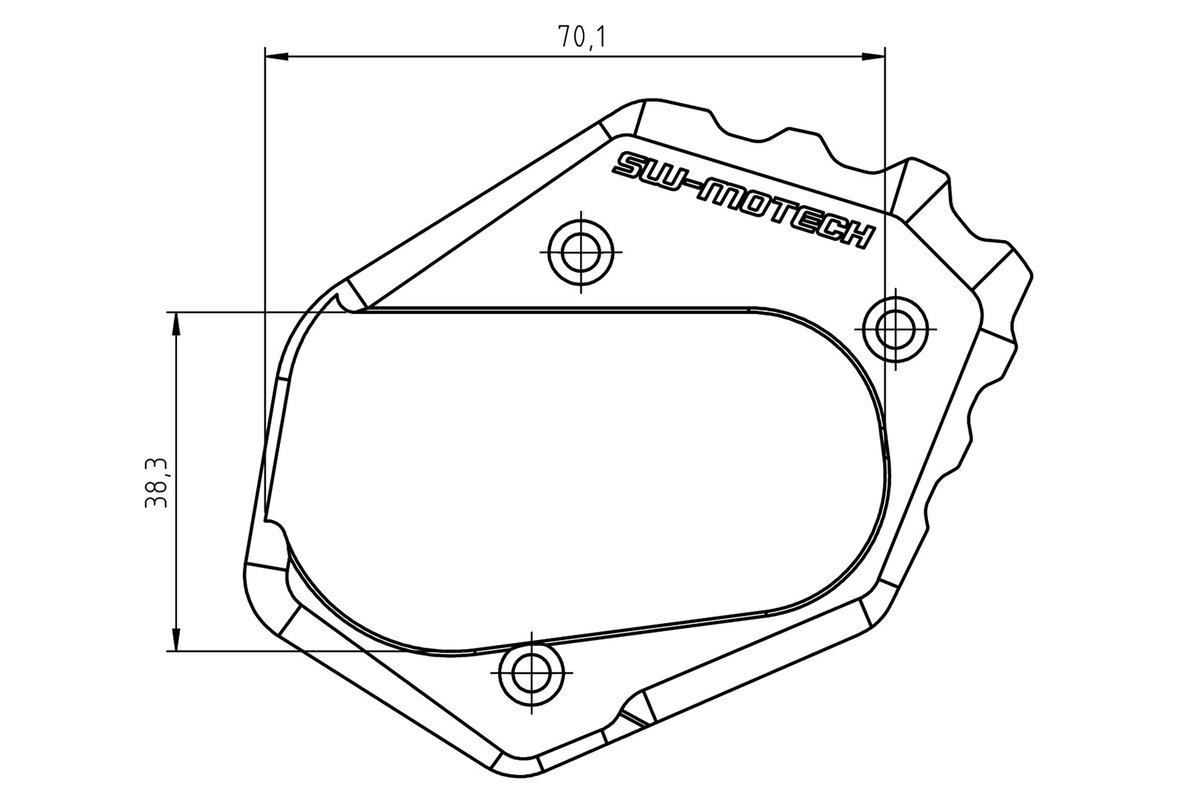 Elargisseur de béquille latérale pour BMW R 1200 GS, R