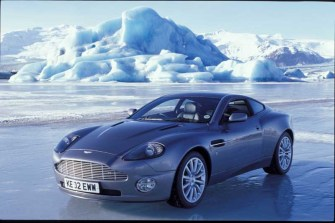 Aston Martin Vanquish on location in Iceland