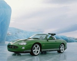 The Jaguar XKR on location in Iceland.