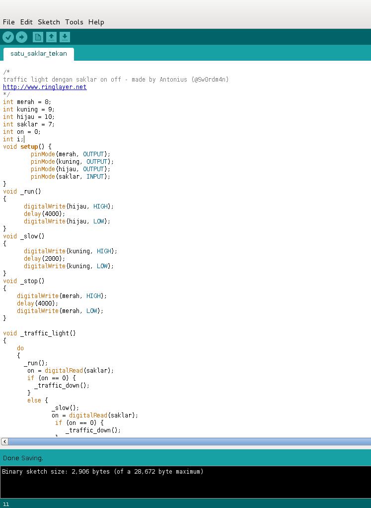 Contoh Program Arduino : contoh, program, arduino, Microcontroller, Ringlayer, Roboticist