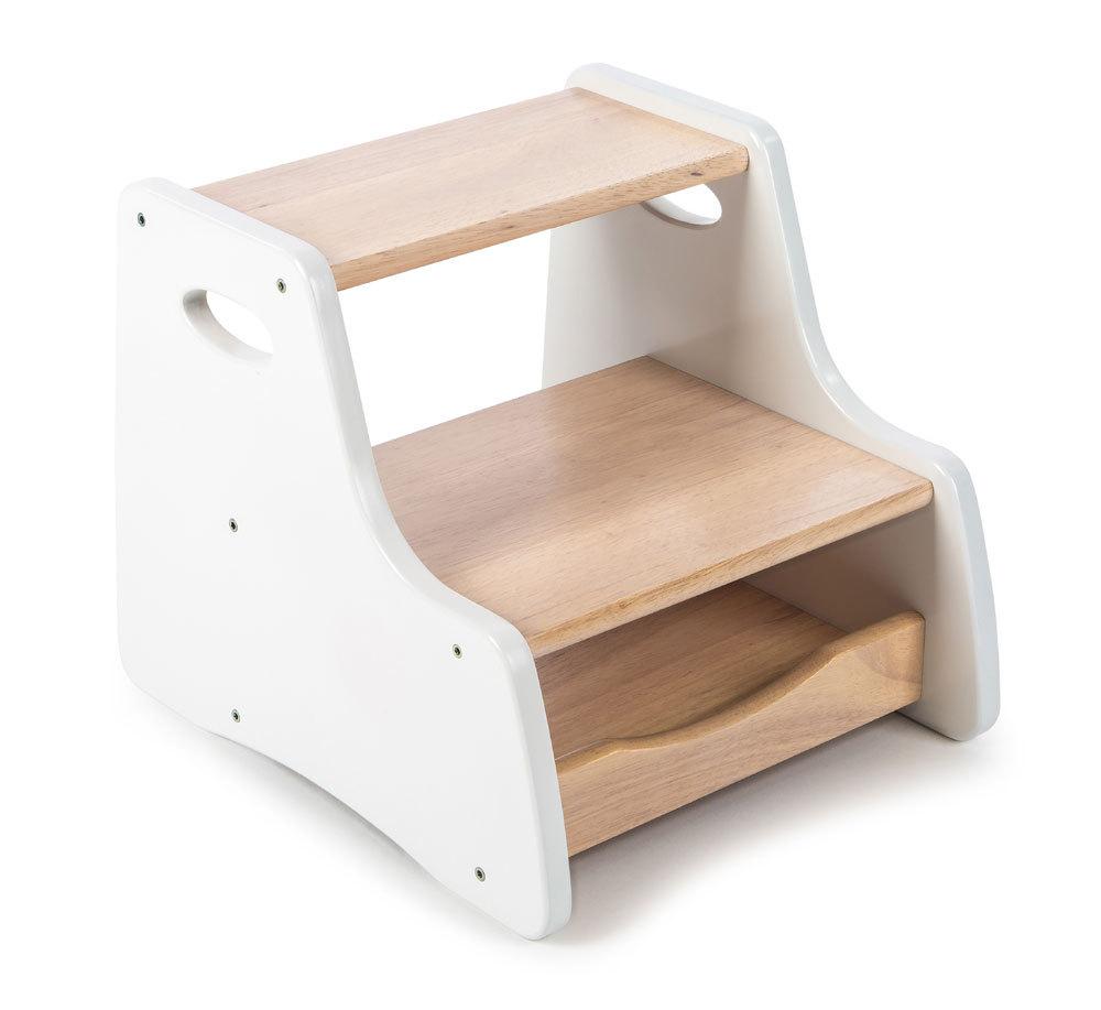 Tidlo Hocker mit Tritt und Schublade aus Holz  Badschemelen  Onlinekidsde