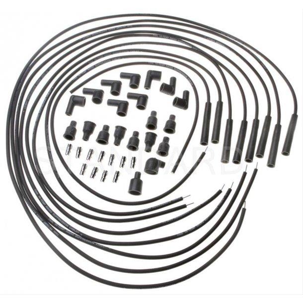 Tændkabler universal sæt lige hætter ved tændrør 6 & 8