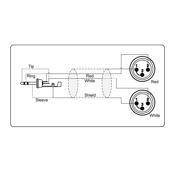 Adapter Kabel 3.5 mm MiniJack stereo til 2 x XLR Han → Køb