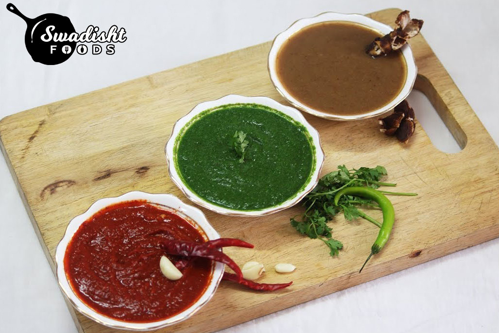 3 types of Chutneys for Chaat