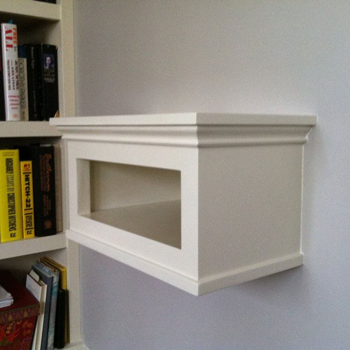 Ii B 1 Wall Mounted Tv Shelf With Hidden Cable Electrical