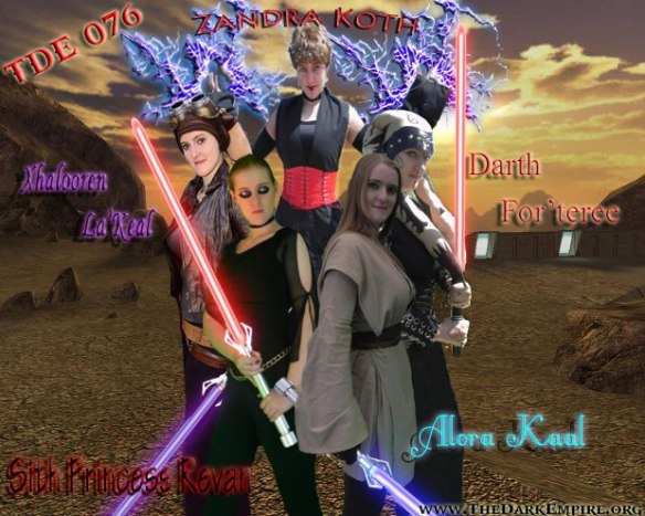 Combination of Star Wars Characters Cosplayed. Handmade Costumes.