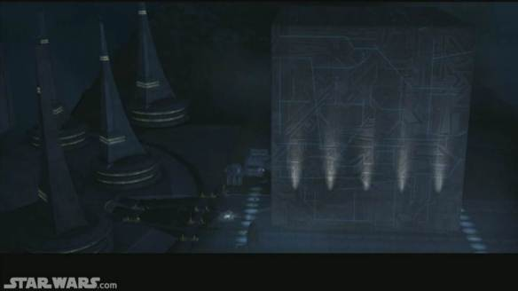 The Box on the planet Serenno at Count Dooku's Palace