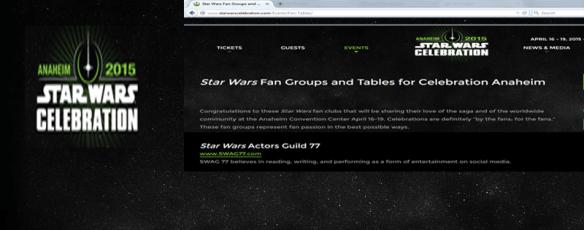 2014 Star Wars Celebration SWAG 77-2-1