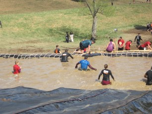 ...at least until you get to the bottom, when you're wading through more cold, muddy water. This was the fourth of four consecutive water obstacles in the final quarter of the course.