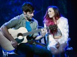 Sam Edgerly (Jeff) and Desi Oakley (Tina Girlstar) in Girlstar at Signature Theatre. Photo by Christopher Mueller.