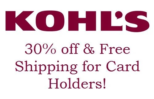 Kohl's Card Holders 30% Off Code
