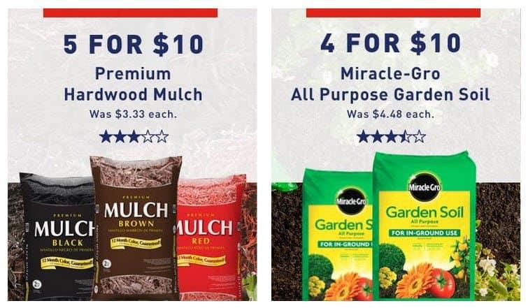 Lowe 39 S Memorial Day Sale Mulch 2 Per Bag Miracle Gro Garden Soil Per Bag Swaggrabber