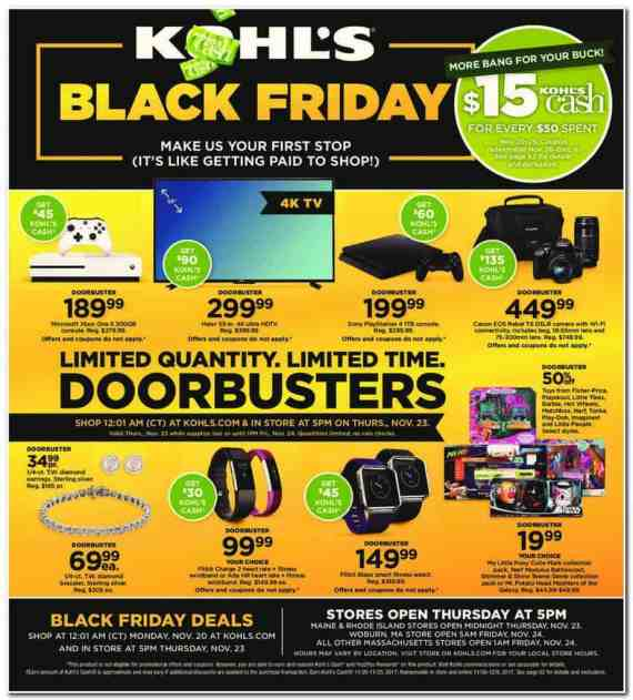 2017 Kohl's Black Friday Ad Scan