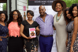 "From left to right: Ciji Tatum, Judy ""Jae"" Nash, Phylencia Taylor, Barry Reynolds, Beatrice Nixon, Candace Mitchell, Kiwi The Beauty Blogger. Photo Credit: Jarrine Montgomery."