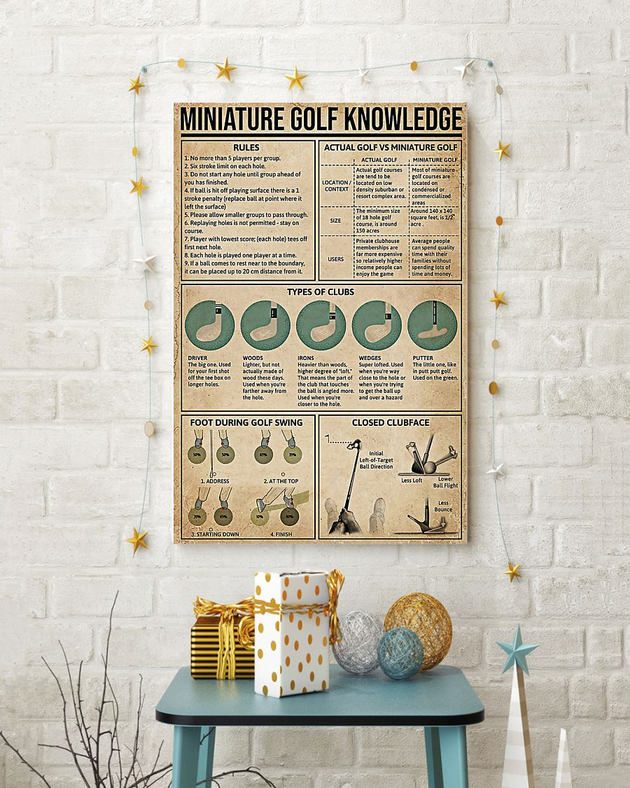 high quality vintage miniature golf knowledge poster