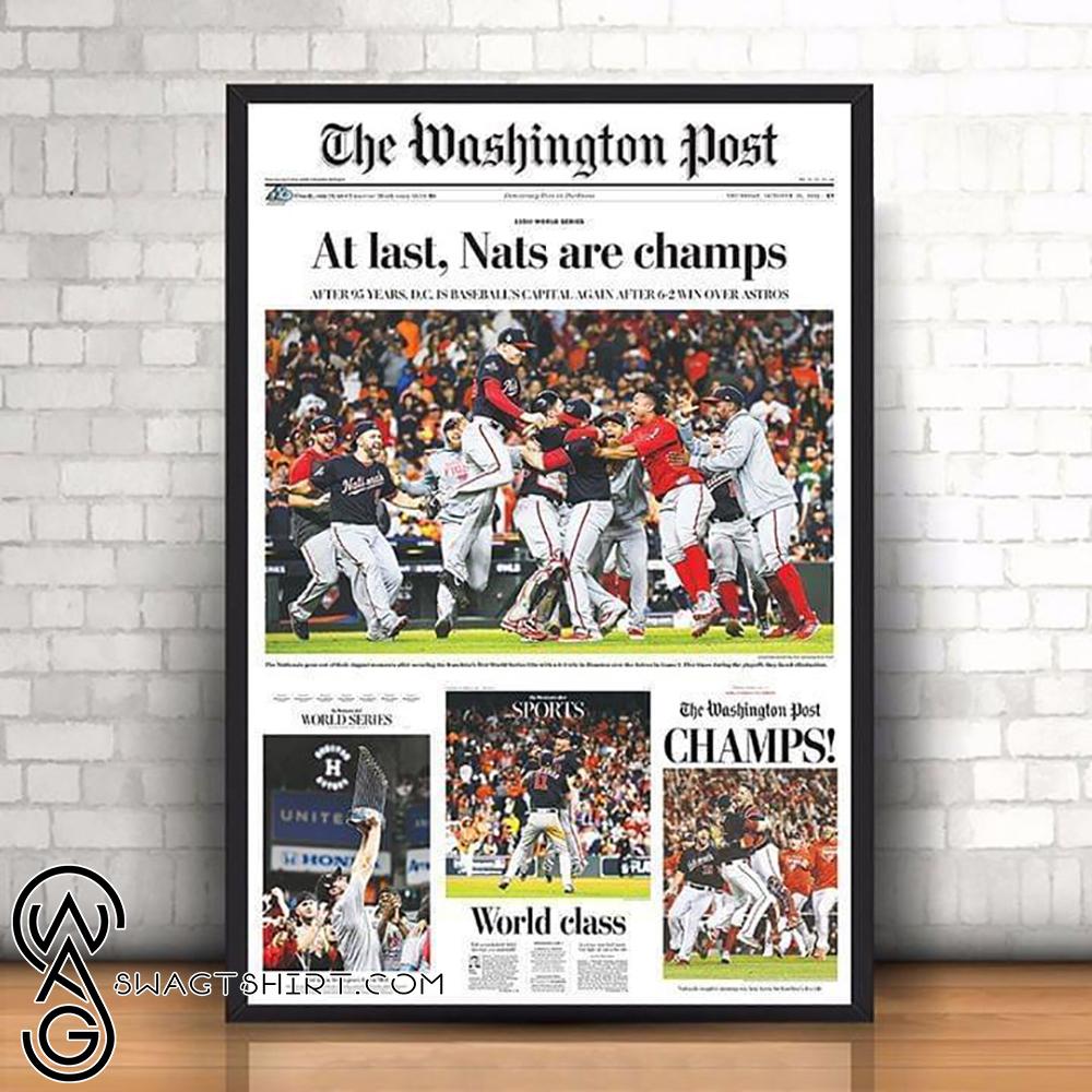 the washington post at least nats are champiosn washington nationals 2019 poster