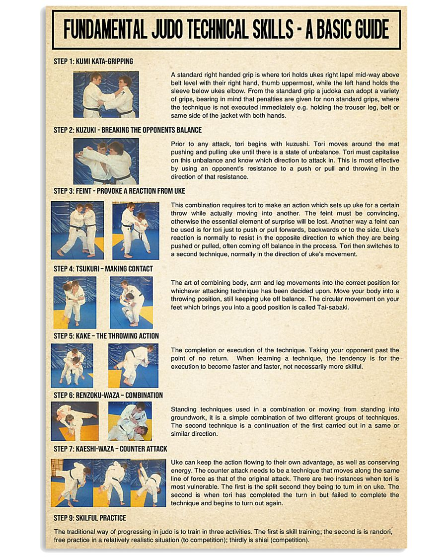 Teknik Judo : teknik, Selling, Products], Fundamental, Technical, Skills, Poster