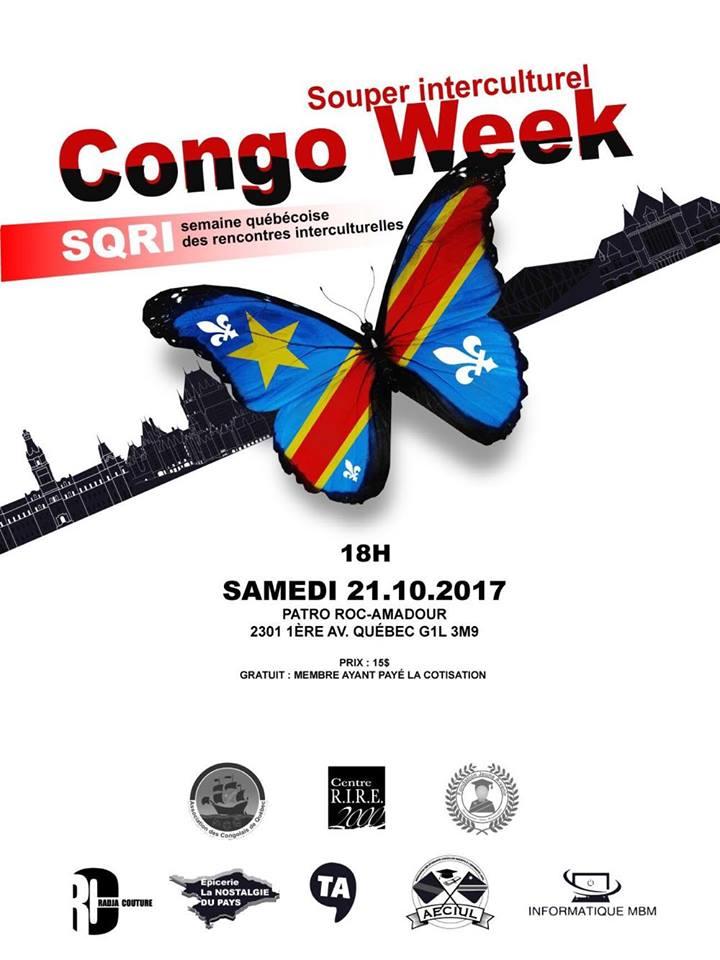 SoirreCongolais Souper interculturel Congo week