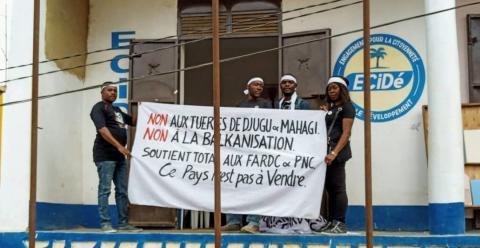 Chama DRC Chama cha kisiasa ECIDE chake Martin Fayule chaandamana