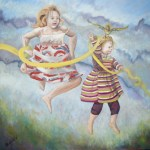"""""""I Can Fly!"""", oil painting."""